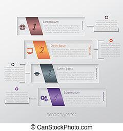 テンプレート, 現代, ベクトル, infographic, デザイン