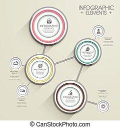 テンプレート, 現代, infographic, デザイン