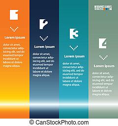 テンプレート, 現代, infographics