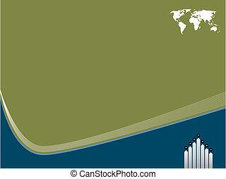 テンプレート, 背景, 世界地図