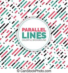 テンプレート, 色, パターン, ライン, 対角線, 重なり合う, ベクトル, 背景, 平行