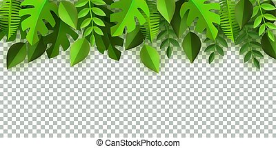 テンプレート, 葉, ベクトル, 緑の背景, フレーム