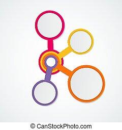 テンプレート, 要素, infographic, ビジネス, options., 抽象的, イラスト, 創造的, 図, presentation., ベクトル, グラフ, ステップ, 4