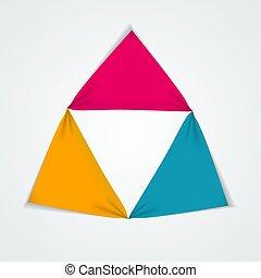 テンプレート, 要素, infographic, ビジネス, options., 抽象的, グラフ, 創造的, 図, 3, presentation., ベクトル, イラスト, ステップ