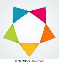 テンプレート, 要素, infographic, ビジネス, options., 抽象的, グラフ, 創造的, 図, presentation., 5, ステップ, illustratio, ベクトル