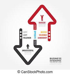 テンプレート, bussiness., infographic, デザイン, 成功, ルート, 概念