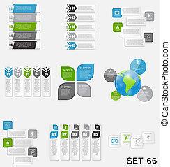 テンプレート, eps10, illustration., ビジネス, コレクション, infographic, ベクトル
