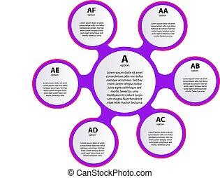 テンプレート, icons., infographic, イラスト, ライン, ベクトル, レポート