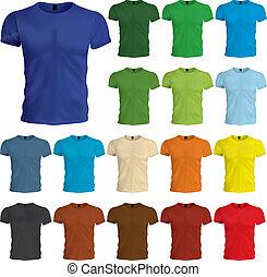 テンプレート, tshirt, 有色人種