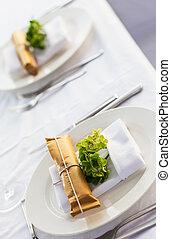 テーブルの 設定