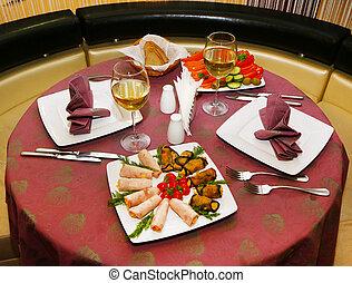 テーブルの 設定, レストラン