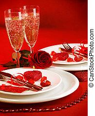 テーブルの 設定, ロマンチック