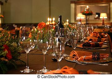 テーブルの 設定, 結婚式