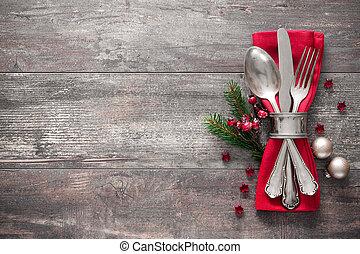 テーブルをセットする, クリスマス, 場所