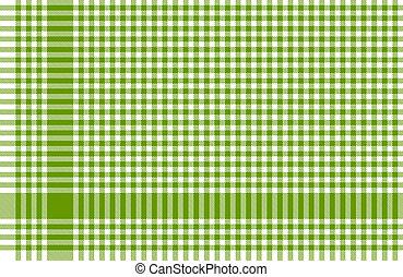 テーブルクロス, パターン, checkered, 緑