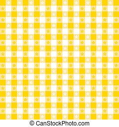 テーブルクロス, パターン, seamless, ギンガム