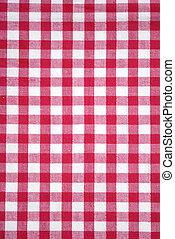 テーブルクロス, 赤, checkered