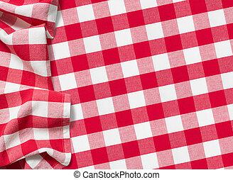 テーブルクロス, checkered, ピクニック, 赤
