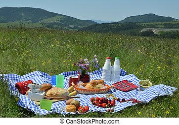 テーブルクロス, plaid, ピクニック