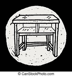 テーブル, いたずら書き