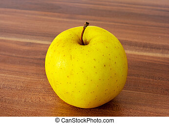テーブル, アップル, 黄色