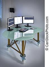 テーブル, コンピュータ, デスクトップ, オフィス, キーボード