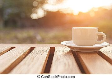 テーブル, コーヒーカップ