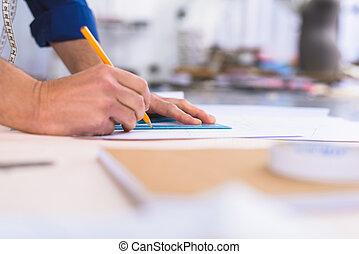 テーブル, デザイナー, 仕事