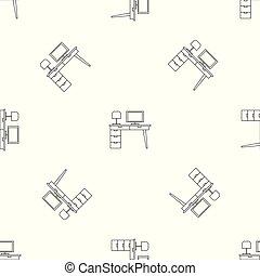 テーブル, ベクトル, コンピュータ, seamless, パターン