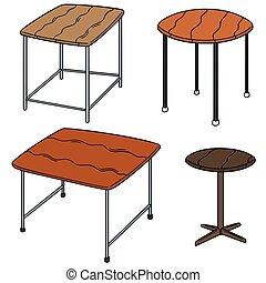 テーブル, ベクトル, セット