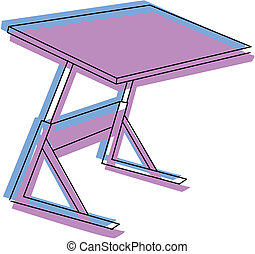 テーブル, ベクトル, 図画