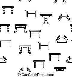 テーブル, ベクトル, seamless, パターン, 机