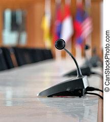 テーブル, マイクロフォン