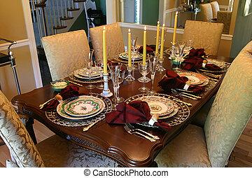 テーブル, 休日