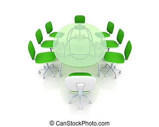 テーブル, 会議, デザイン