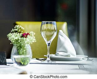 テーブル, 夕食の設定, 大丈夫です, レストラン