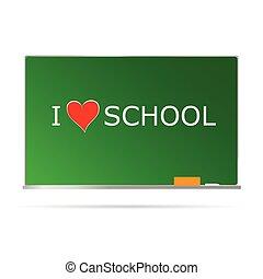 テーブル, 学校, メッセージ, 心