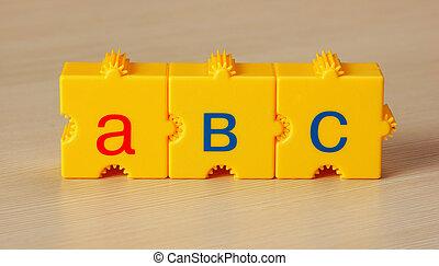 テーブル, 学校, 立方体, 手紙