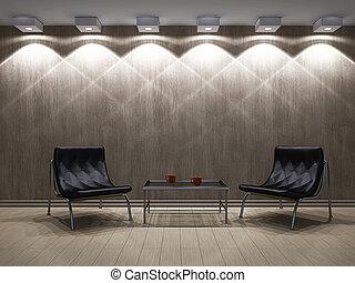 テーブル, 椅子, livingroom