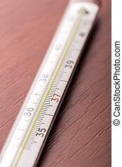 テーブル, 温度計