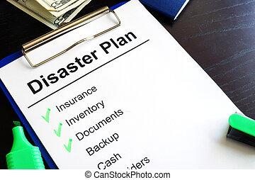 テーブル。, 災害, 計画