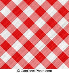 テーブル, 赤い布地