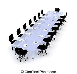 テーブル, 2, 会議