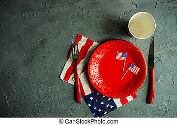 テーブル, 7月, 設定, 4