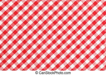 テーブル, checkered, 布