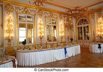 テーブル, dining-hall, 宴会