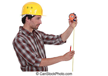 テープ, 労働者, 測定