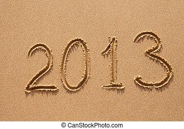 ディジット, 海洋, 砂, 年, 新しい, 浜, 2013
