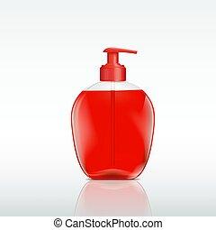ディスペンサー, 石鹸, びん, 液体, プラスチック