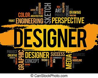 デザイナー, 単語, 雲